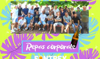 Journée Corporate à l'auberge du belvédère pour FONTREY dans la Loire avec les équipes fonderies, usinages et administratives. Merci à Wii Smile