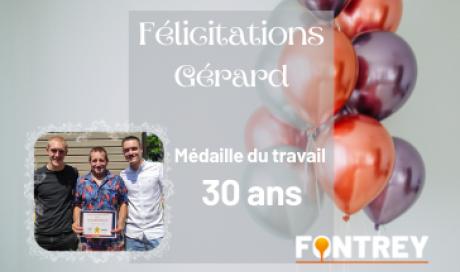 MEDAILLE DU TRAVAIL - FONTREY FONDERIE DE FONTE