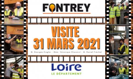 🔶 VISITE DES ELUS DE LA LOIRE 🔶 - FONTREY