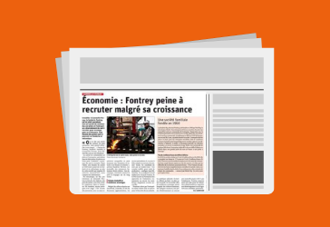 FONTREY au cœur de l'actualité Roannaise, présente sur l'édition du journal Le Progrès !