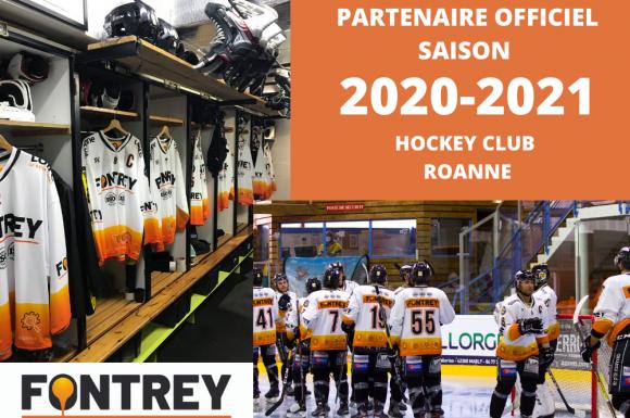 FONTREY partenaire officiel des Renards, le club de Hockey de Roanne