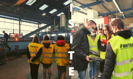 Première visite au sein de nos ateliers de fonderie et d'usinage à Roanne pour le Lycée agricole Chervé !