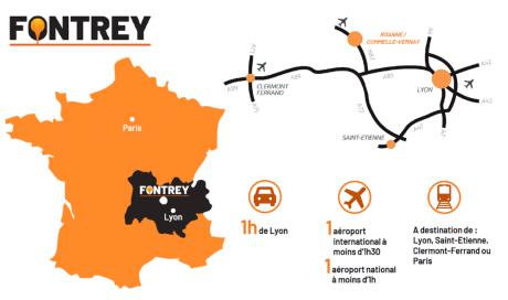 FONTREY au cœur de la région Auvergne Rhône-Alpes !