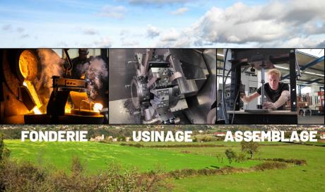 FONTREY, Fonderie de fonte - Usinage - Assemblage en Auvergne Rhône Alpes