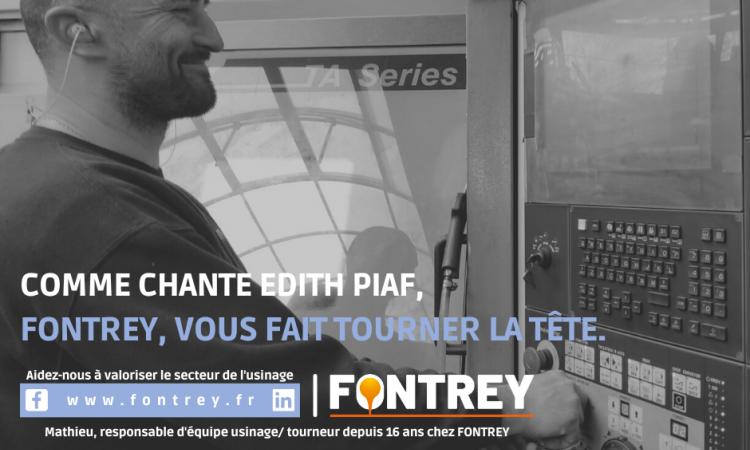 CAMPAGNE FONTREY AVRIL/MAI 2021 - COMME CHANTE EDITH PIAF, FONTREY, VOUS FAIT TOURNER LA TETE - Responsable d'équipe usinage/tourneur - Fonderie de fonte dans la Loire