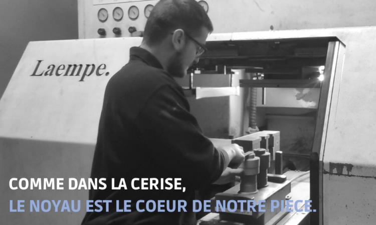 CAMPAGNE FONTREY AVRIL/MAI 2021 - COMME DANS LE CERISE, LE NOYAU EST LE COEUR DE NOTRE PIECE - Opérateur de noyautage - Fonderie de fonte dans la Loire