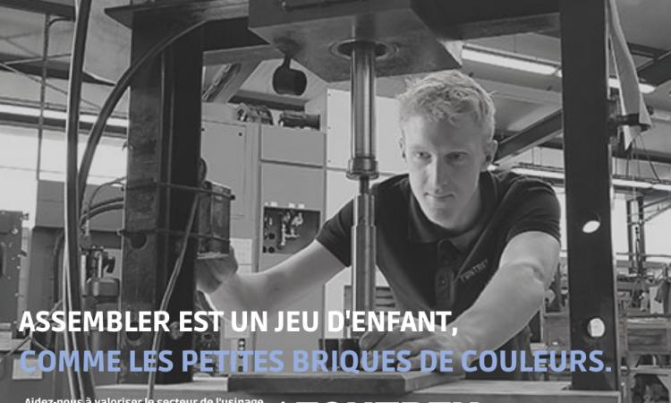 CAMPAGNE FONTREY AVRIL/MAI 2021 - ASSEMBLER EST UN JEU D'ENFANT, COMME LES PETITES BRIQUES DE COULEURS - Apprenti en usinage/assembleur - Fonderie de fonte dans la Loire